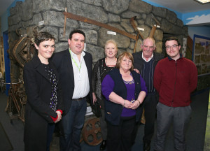 Aisling Deery – Achill Lodge, Kenneth Deery – Achill Lodge & Director CFÁA, Ellen McDonough – CEO of Stubborn Goats Creative Services, Bernie & Hugh Deery - Achill Lodge & Luke Clarke, Roscommon attending the Business Launch of the Achill Experience. Photo: © Michael Donnelly