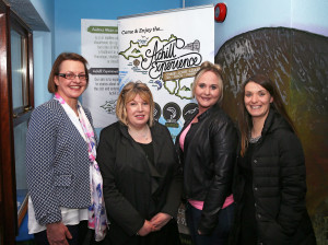 – Achill Tourism staff members Rose Lynch, Mary B. Gallagher, Elaine Gallagher & Kelly Hughes enjoying the Business Launch of the Achill Experience. Photo: © Michael Donnelly