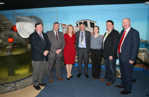 Pat Kilbane – Chairman of CFÁA, Stiofán O'Cualáin – CEO Udaras na Gaeltachta, Cllr. Rose Conway Walsh, Cllr. Michael Holmes, Cathaoirleach of Mayo Co Co, Pam Ní Thaidhg – Udaras na Gaeltachta, Kenneth Deery – Director of CFÁA & Terence Dever – CEO of CFÁA attending the Business Launch of the Achill Experience. Photo: © Michael Donnelly