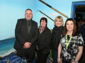 Sean Molloy - Manager of Achill Tourism, Julie Hassett - The Chalet Restaurant, Marjorie O'Malley -Achill Island Sea Salt, Linda McGing CFÁA at the Business Launch of the Achill Experience