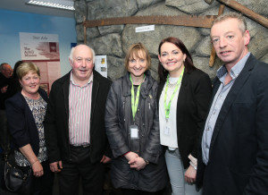 Anne & Noel Gallagher – Monastery View B&B, Irene Gielty & Carolanne McNulty – Directors of CFÁA & Raymond McGinty of Achill Credit Union attending the Business Launch of the Achill Experience.  Photo: © Michael Donnelly