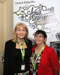 Ann Kilbane CFÁA & Majella Gallagher Director of CFÁA enjoying the Business Launch of the Achill Experience. Photo: © Michael Donnelly